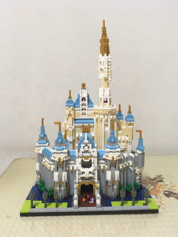 Diamond Blocks Cinderella Princess Castle City set Model Building Block Kid DIY Toy Funny Birthday Gift lepin 16008 4160pcs cinderella princess castle city model building block kid educational toys for gift compatible legoed 71040