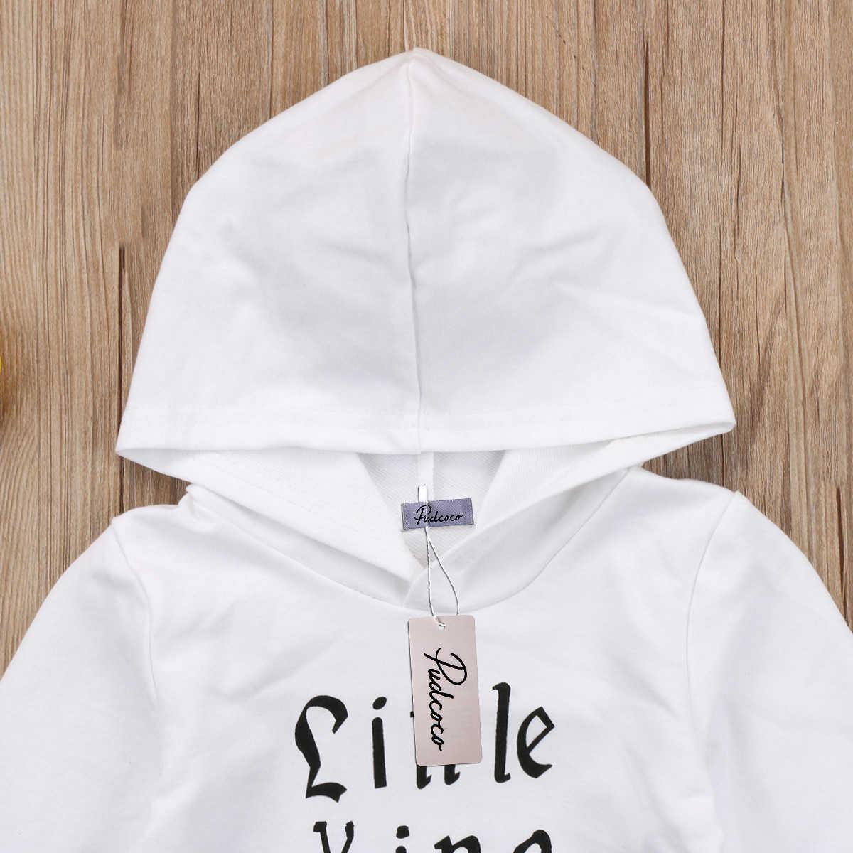 Nuevos 2018 niños pequeños bebé niño algodón de manga larga con capucha Tops abrigo ropa de abrigo trajes Casuales