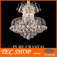 JH New Luxury Crystal Chandelier Living Room Bedroom Crystal Lamp Home Lighting Lustre Fixture D45xH45cm Cristal