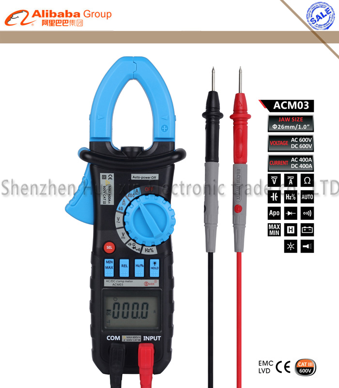 Bside ACM03 High Sensitivity Handheld Auto Range Digital AC/DC Clamp Meter AC DC Current Voltage Hz Frequency Capacitance Tester bside adm02 digital multimeter handheld auto range multifunction dmm dc ac voltage current temperature meters multitester