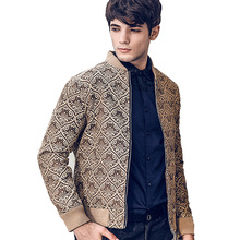 FANZHUAN Free Shipping New 2018 casual autumn and winter men's male man Baroque slim Europe brand personality jacket coat 810045