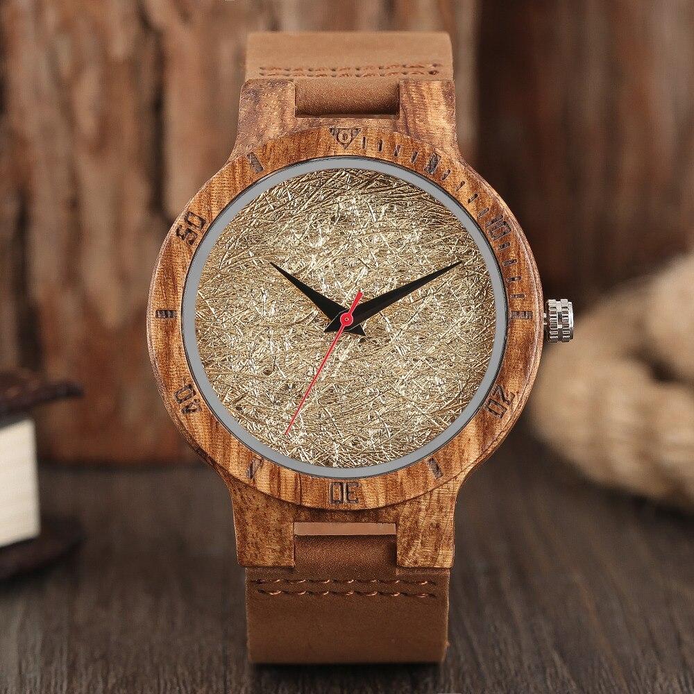 4 Types Creative Wood Watch 100% Natural Bamboo Wooden Quartz Unique Wrist Watch Sport Clock Male Fashion Gift relogio masculino