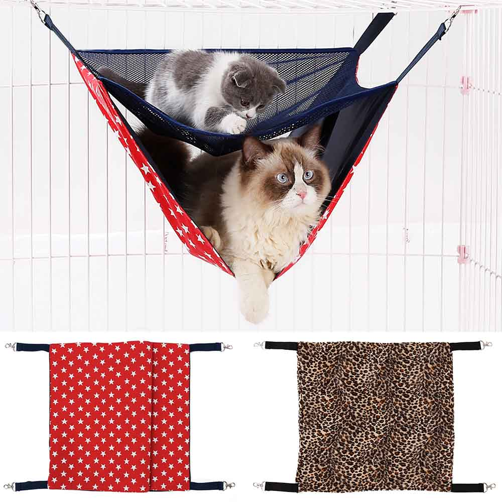 Useful Hanging Living Bed Soft Comfortable Indoor Housesoft Bed Hanging Mat Soft And Comfortable Cat Hammock Kitten Cages Home & Garden