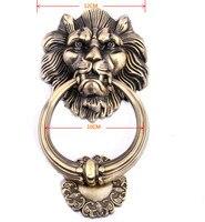 1pcs12cm Large Antique Lion Doorknocker Door Knocker Lionhead Doorknockers Lions Home Decor Wooden Door Knocker