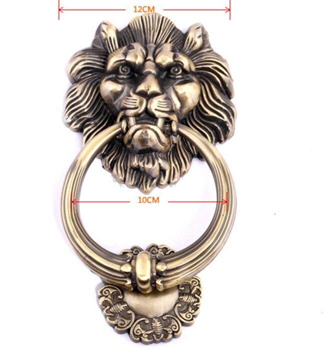 1pcs12cm Große Antike Lion Doorknocker Türklopfer Lionhead Doorknockers Lions Home Decor holz türklopfer
