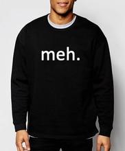 hip hop men's sweatshirt funny Meh Internet Geek Nerd new spring winter fashion hoodies tracksuit loose fleece brand clothing