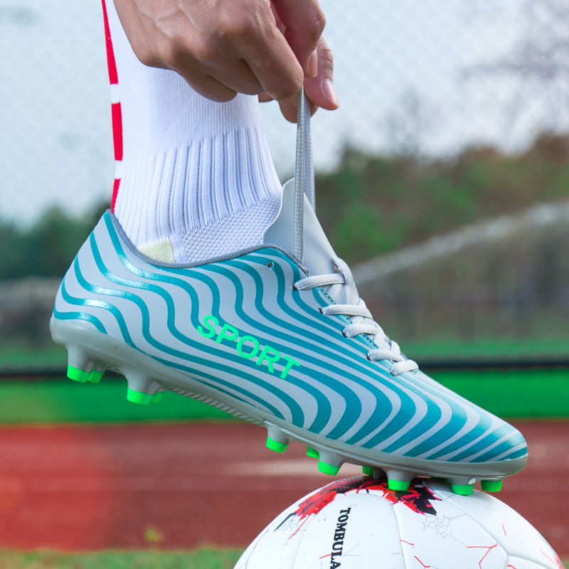 Football Shoes Soccer Shoes Men Soccer Cleats AG Boots Long Spikes Sneakers Soft Men Outdoor Lawn Games Good Quality35 45 in Soccer Shoes from Sports Entertainment