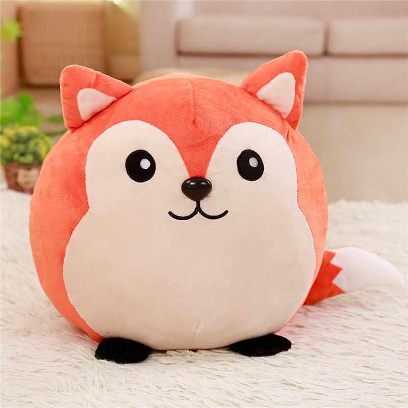 Милый круглый Енот/панда плюшевый чучело игрушки лисы/свинья/корова плюшевая подушка милый прекрасный куклы в подарок подарки куклы детские игрушки