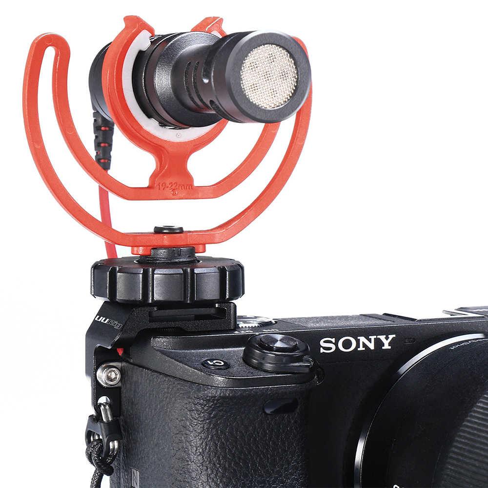 Shotgun Mikrofon Hotshoe Ständer Halter Kamera Mikrofon Clips