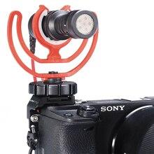 UURig R011 mikrofon zimna butów zestawu do montażu adapter mikrofonu Vlog kamera zewnętrzna uchwyt wspornika dla SONY A6400 akcesoria do lustrzanek cyfrowych