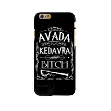 Avada Kedavra Bitch shirt for Harry Potter Design phone cover cases For Apple iphone 4 4S 5 5S 5C 6 6s 7 Plus 6SPlus Hard Shell(China (Mainland))