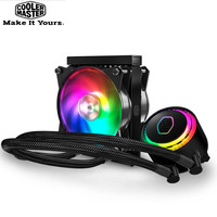 Cooler Master CPU Liquid Cooler 120mm RGB quiet fan For Intel 775 115X 2011 2066 and AMD AM4 AM3+ CPU water cooling PC radiator