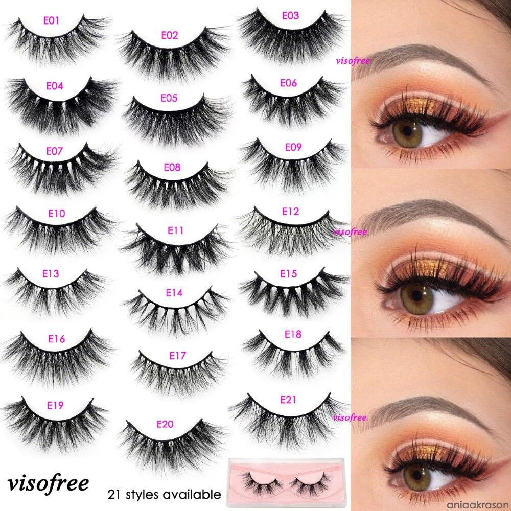Visofree Eyelashes Makeup 3D Mink Eyelashes 100% Cruelty Free Handmade Reusable Natural Long Eyelashes Favorite Lashes 21 Styles