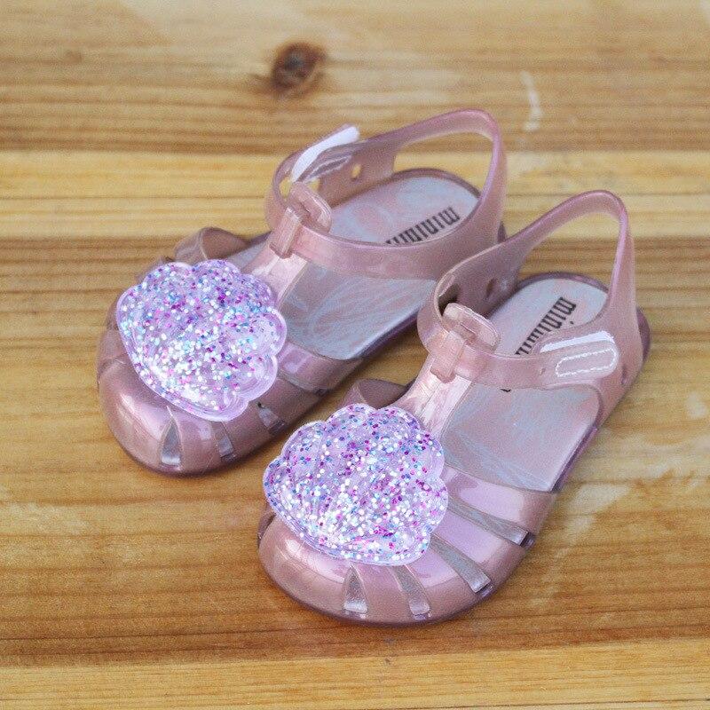 Mini Melissa Brazil Girl Jelly Shell Sandals 2018 New Children Sandals  Shoes Water Shoes Beach Sandals Breathable Kids Sandals on Aliexpress.com  d88b7ac71b64