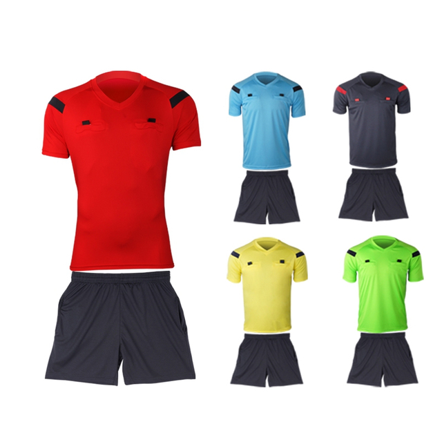 Referee Jersey Soccer Set 2017 Football Judge Uniform Futbol Shirt Suit  Tracksuits Survetement Football Maillot De Foot e5dfd3e77d581