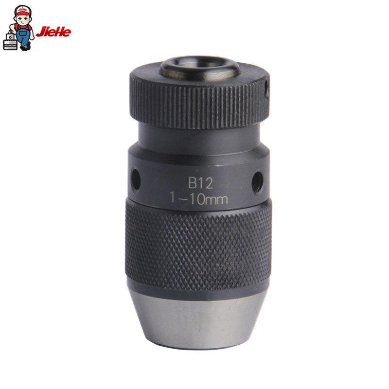 JIEHE Drill Chuck 1 10mm B12 Keyless Self Tighten drill fixture Machine Tools Power Tool Accessories