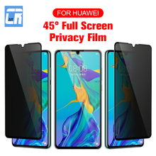 Anti-Spy Tempered Glass for Huawei P30 P20 Lite Pro Mate 20 10 Personal Information Protection Privacy Protective