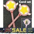 Cardcaptor Sakura Card Captor Star Wand Японского Аниме Косплей Щепка en Кулон Цепи Подарки для девочек Автомобиля карты набор Карт кредит