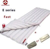 Envelope White Down AEGISMAX 95% white goose down UL winter sleeping bag camping Urltra compact ultralight down sleeping bag