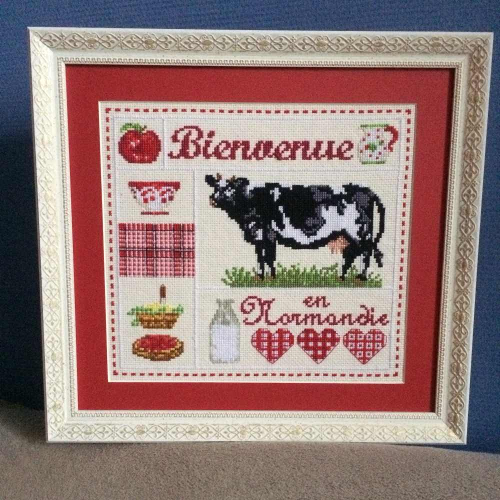 Milk cow cross stitch kit cartoon 14ct 11ct count pre print canvas stitching embroidery DIY handmade needlework