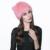 Mulheres Chapéu Do Inverno Quente de Pele De Coelho Real Rex Rabbit Fur Hat 100% Pele De Coelho Malha Chapéu Gorros Feitos À Mão Orecchiette Quente CapH #15