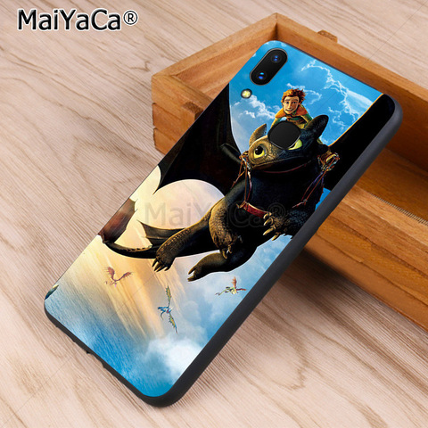 MaiYaCa Toothless Train Your Dragon black soft Phone Accessories Case for vivo v9 x20 x20plus x21 x21 ud nex Y83 v7 Y97 coque Karachi