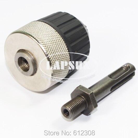 "Impact wrench 3//8-24UNF keyless 3//8/"" drill chuck adaptor converter with screw YN"