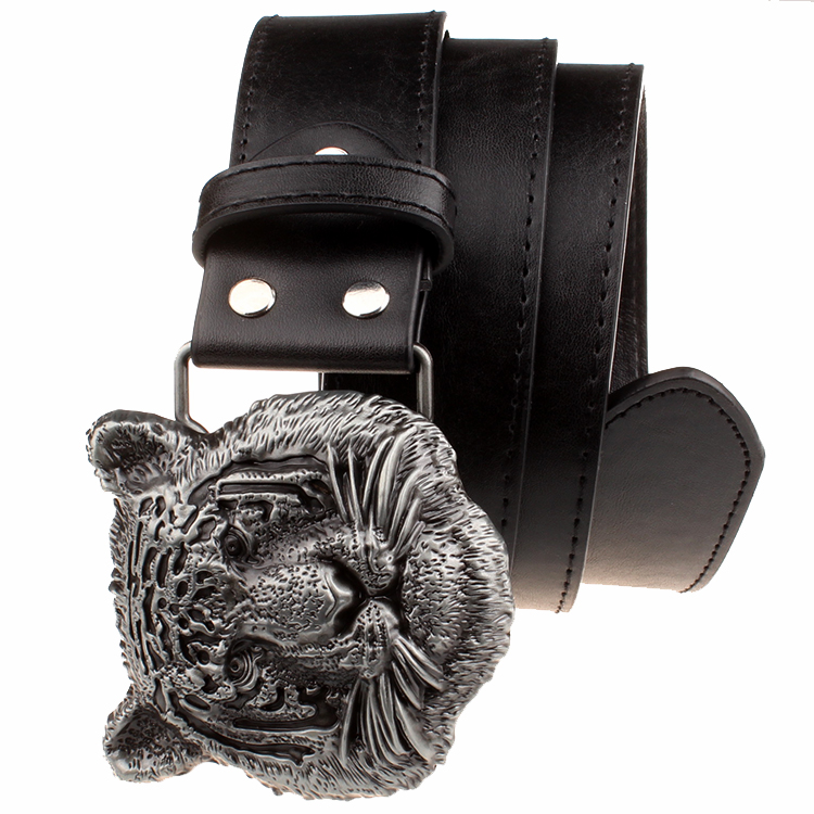 Wilde Persönlichkeit Männer Gürtel Tigerkopf Muster Metall - Bekleidungszubehör - Foto 4