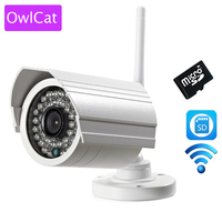 Outdoor WIFI SD Card Bullet IP Camera 1MP 720p HD Wireless Motion Survelliance CCTV Cam IR
