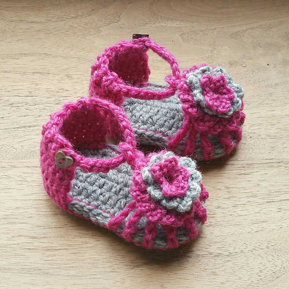 Crochet Baby Sandals Baby Shower Gift Baby Newborn Photography Prop