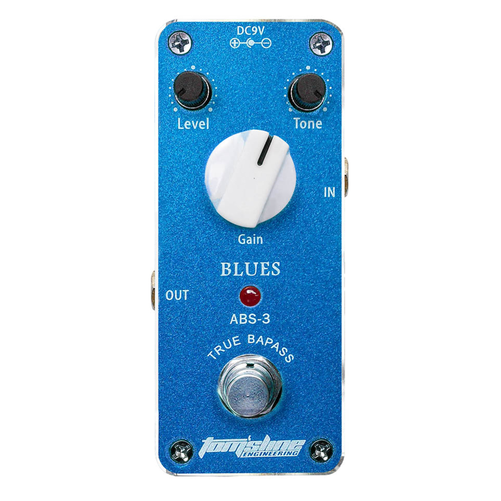 Aroma Blues Guitar Effect Pedal ABS-3 Mini Analogue True Bypass Metal Case Quiet IC High Gain Output Gain Adjustable aroma adr 3 dumbler amp simulator guitar effect pedal mini single pedals with true bypass aluminium alloy guitar accessories