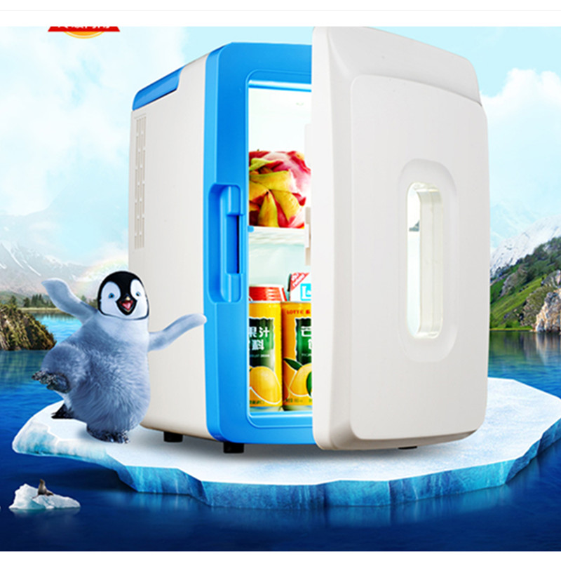 12L Car HOME Using AC220V DC12V Electric Refrigerator Warming And Cooling Machine Mini Portable Refrigerator With Nightlight 12l car refrigerator portable pig semen thermostat machine mini household livestock refrigerator 12l4