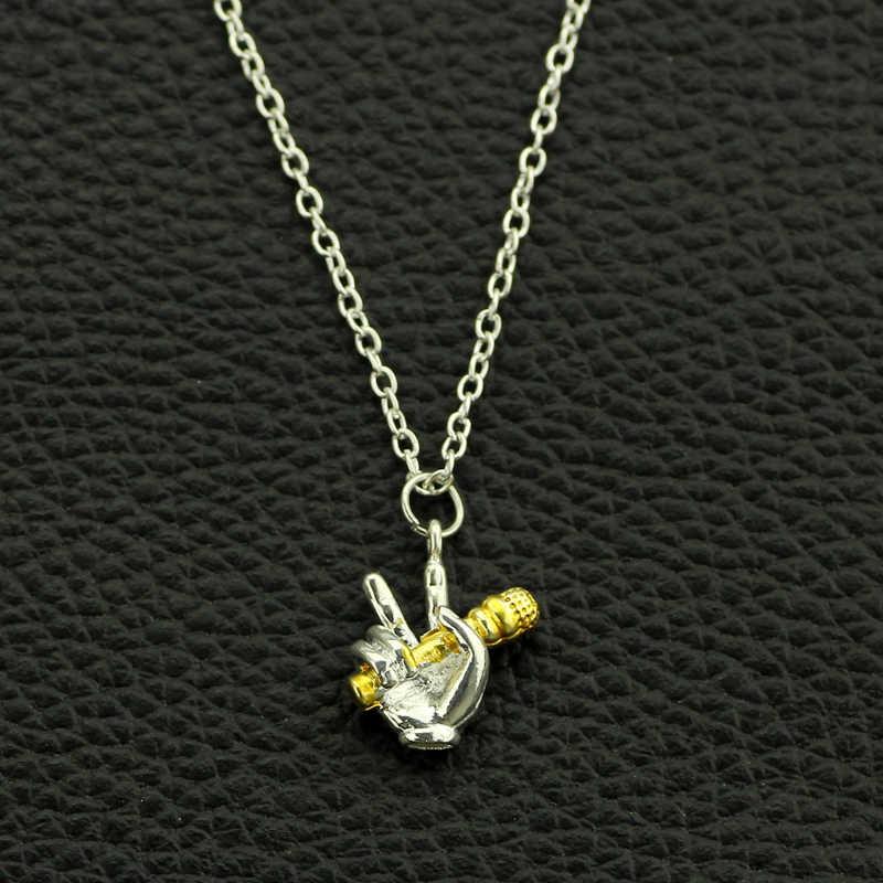 Пара Pitch ожерелье микрофон кулон мужчины/женщины лучший друг ювелирные изделия Хип-хоп ювелирные изделия серебряный цвет музыканты и певцы подарок