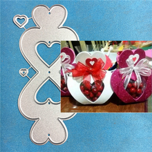 1PCS love box cutting die+1PCS carft Tag Stencil For DIY Scrapbook Paper Card Decorative Craft Embossing Die Cut