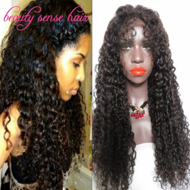 Fashion Glueless Full Lace Curly Human hair Wigs With baby hair 150% Density Virgin Unprocessed Brazilian Lace Front Wigs