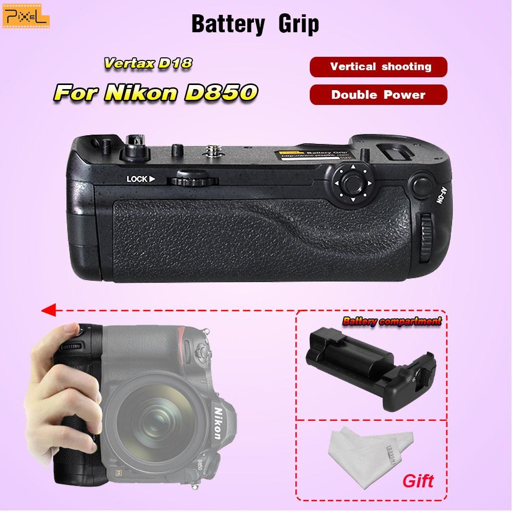 Pixel Vertax D18 Battery Grip For Nikon D850 camera Vertical shooting Double Power Vertical shutter Battery compartment meike mk d750 battery grip pack for nikon d750 dslr camera replacement mb d16 as en el15 battery