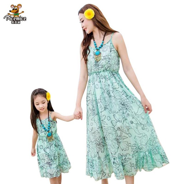 d14832b5870ee US $12.85 30% OFF|Mother Daughter Dress Matching Mother Daughter Clothes  Family Clothing Fitted mae e filha Roupa Mae e Filha Vestidos Family  Look-in ...