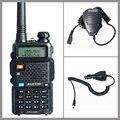 Walkie Talkie Two Way Radio Baofeng UV-5R+Car Charger+Handheld Microphone Speaker