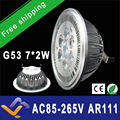 Free Shipping 10pcs/lot Input AC 85-265V G53 ES111 QR111 AR111 LED lamp 14W Spotlights Warm White /Nature White/Cool White