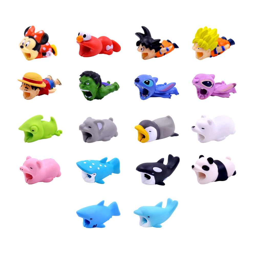 Consumer Electronics Chipal Cute Chompers Cable Protector Bite Cable Winder Cat Dog Duck Rabbit Koala Panda Animal Bites Organizer Holder For Iphone