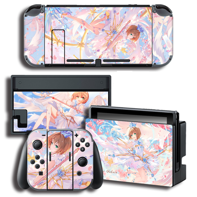 Vinyl Skin Protector Sticker for Card Captor Skins for Nintendo Switch NS Console + Controller + Stand Holder Skins