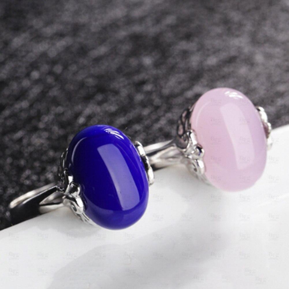 Einfach 1 Stück Luxus Großen Roten Korund Ringe Für Frauen Geschenk Silber Farbe Hochzeit Ring Synthetische Rubis Ring Offenen Ring Heller Glanz