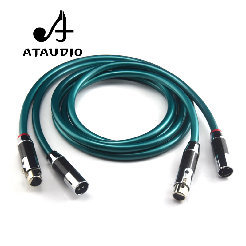 ATAUDIO 1 Pair Ortofon Hifi XLR Cable Pure OCC Audio Cable With Top Grade Carbon fiber