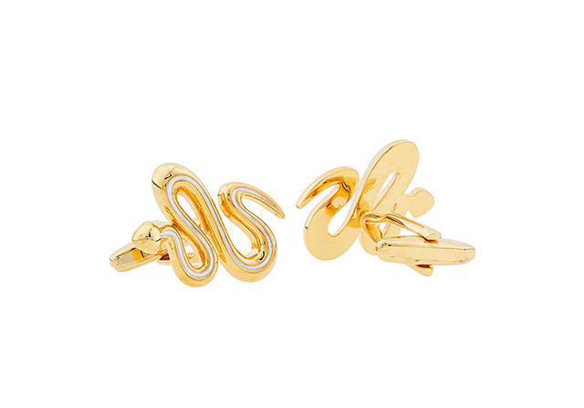 Igame Cuff Links Brass Material Gold Color Novelty Animal Design