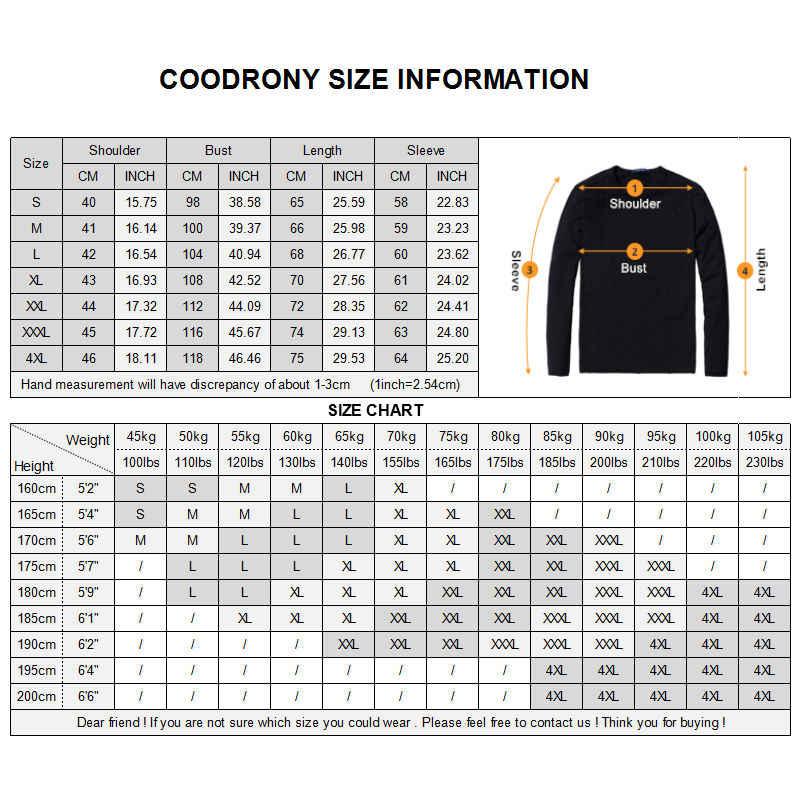 Coodrony 2020 겨울 새로운 도착 두꺼운 따뜻한 스웨터 o 목 양모 스웨터 남자 브랜드 의류 니트 캐시미어 풀 오버 남자 66203