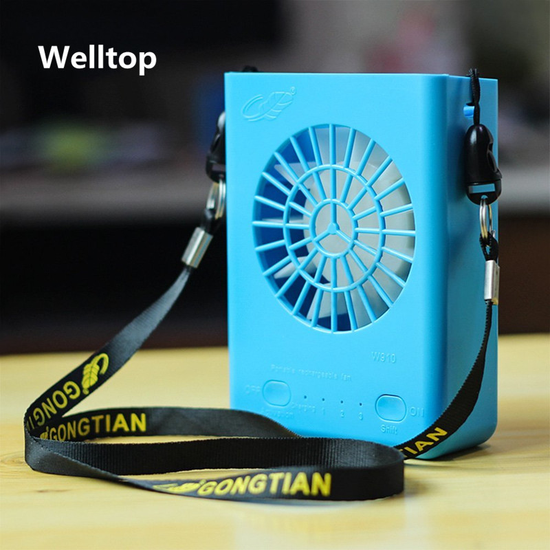 Welltop Multi-functional Rechargeable Mini Fan  3 Speeds Handheld Portable Fans Home Office Travel Air Cooling Desktop USB Fan