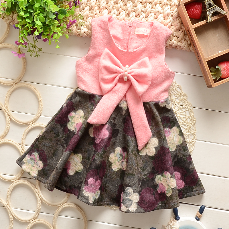006f014bdc83 New girls winter cloth dress 0 1 2 3 4 years old female baby ...