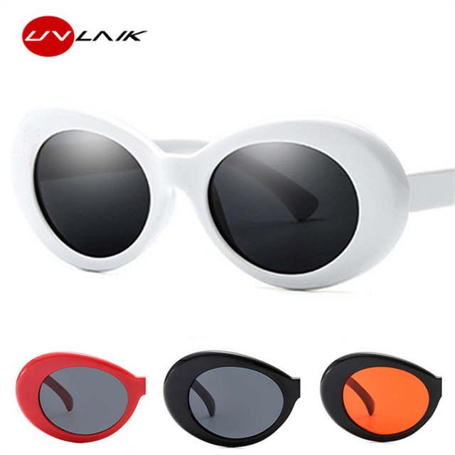 Clout UVLAIK Óculos Espelho Óculos Redondos Óculos de Sol Para Mulheres  Homens NIRVANA Kurt Cobain Retro 7b9ed0eb5e