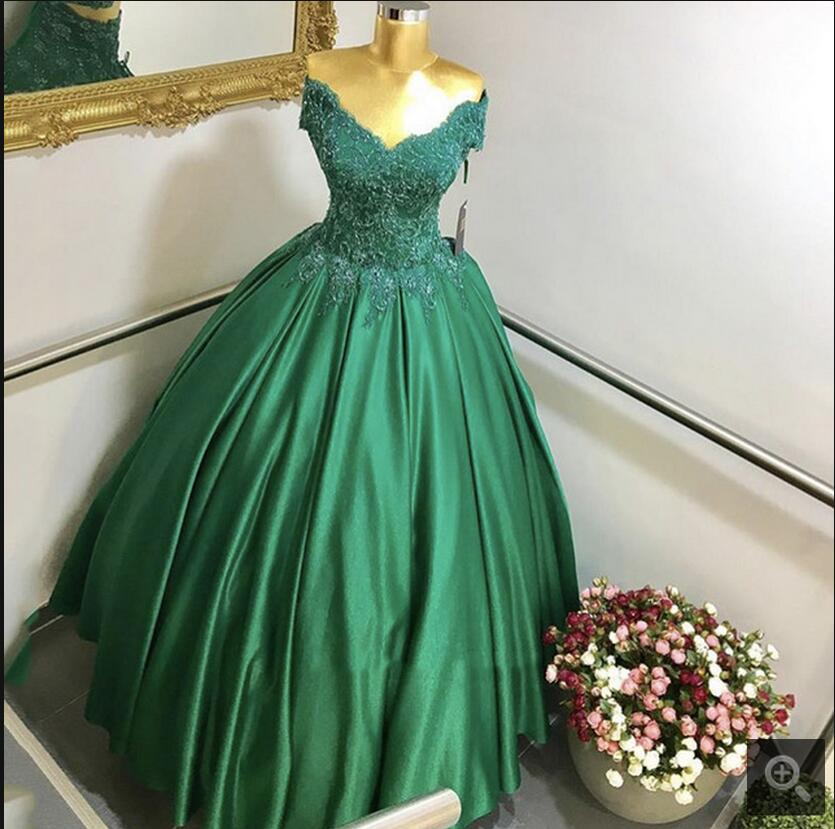 New design 2017 ball gown off the shoulder lace appliques   prom     dress   sweet 16 princess puffy elegant beaded   prom   gowns hot sale