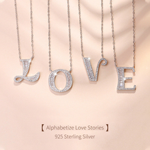MODIAN 2019 NEW 925 Sterling Silver Luxury A to Z Clear CZ 26 Letter Fashion Pendant Necklace For Women Charm Best Gift